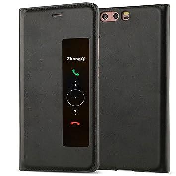 GOGODOG Huawei P10 Plus Funda Inteligente Ventana Ver Ultra ...