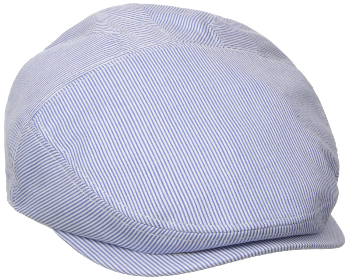 Henschel Men's New Shape Pinstripe Ivy Hat, Gray/Blue Medium