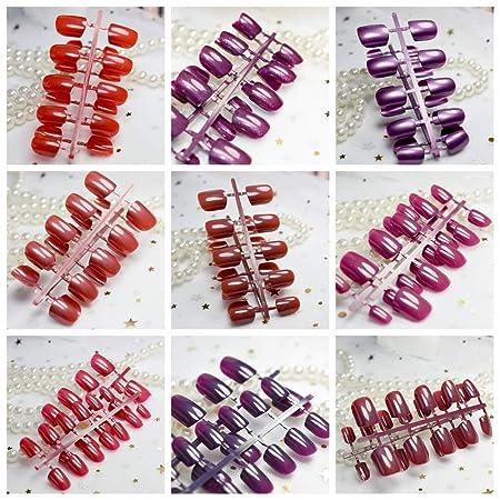 Amazon.com: 10 conjuntos diferentes rojo serie Uñas Postizas ...