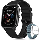Salandens Smartwatch Pulsera Inteligente,reloj deportivo Impermeable IPX7 Pantalla completa táctil monitores de actividad con
