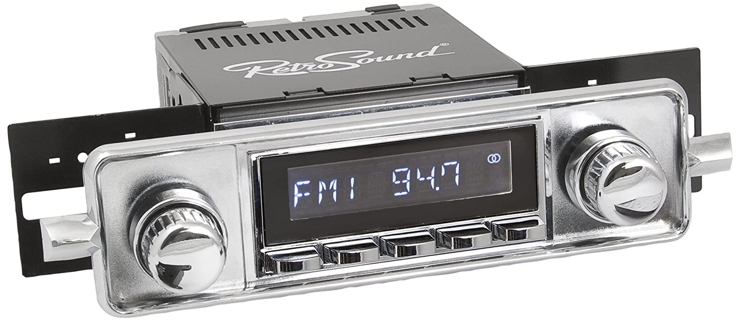 RetroSound HC-304-06-76 Hermosa Direct-Fit Radio for Classic Vehicle Face /& Buttons and Faceplate