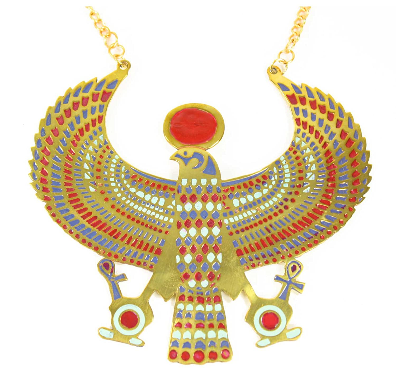Amazon.com Largemouth Winged Horus Necklace Costume Accessory (Gold) Clothing  sc 1 st  Amazon.com & Amazon.com: Largemouth Winged Horus Necklace Costume Accessory (Gold ...