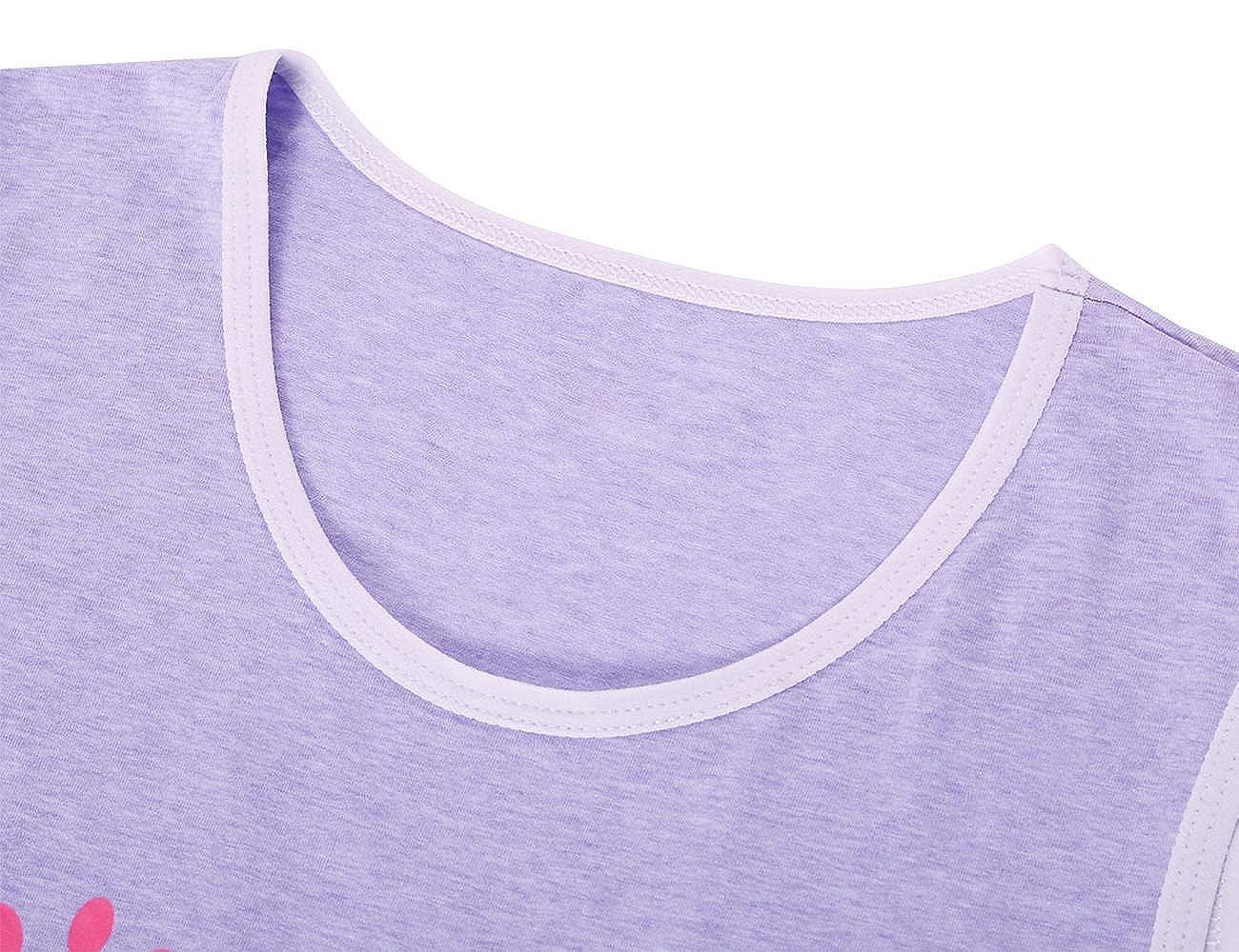Jashe Big Girls 95 % Cotton Blue    Pink Nightgowns 2Pack Super Soft Cute  Kids Pajama ... a559bf93e