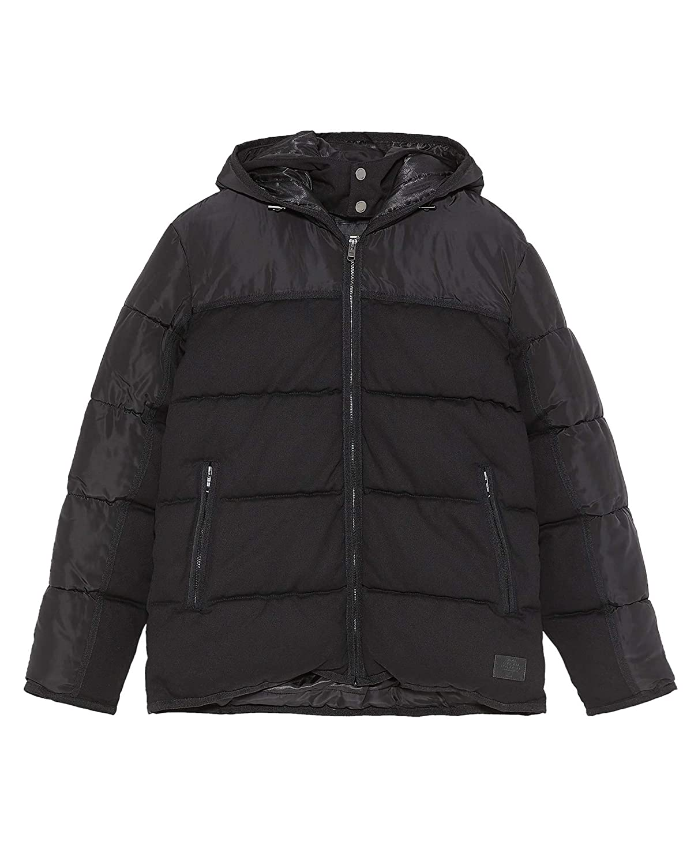 49960211079a Zara Men Contrast Puffer Jacket 6985 308 Black at Amazon Men s ...