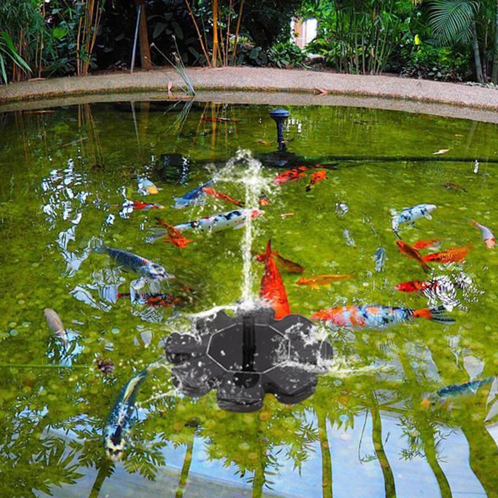 Pond Pool Everteco Solar Fountain Pump Fish Tank and Garden Bird Bath Fountain Pump Floating Pump Kit Outdoor Submersible Water Pump for Bird Bath