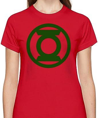 c0b3e6659 Green Lantern Logo Tshirt for Women Short Sleeve Womens T-Shirt with Custom  Design Round Neck Womens Jersey Top Clothing 100% Cotton Fabric Tees: ...