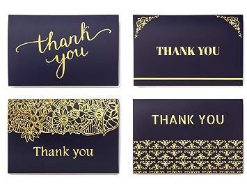 Amazon.com: Tarjetas de agradecimiento con sobres, perfectas ...