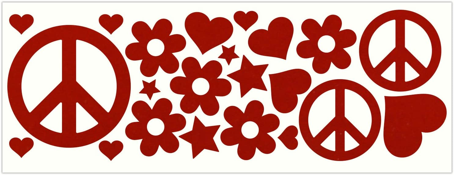 LiteMark Reflective Hippy Sticker Decals for Helmets, Bicycles, Strollers, Wheelchairs and More