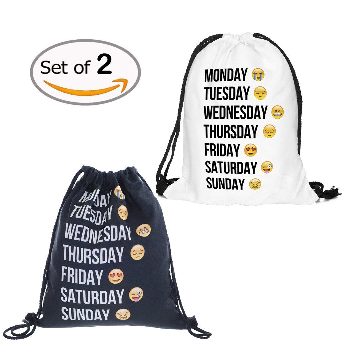 Emoji Sackpack Drawstring Back...