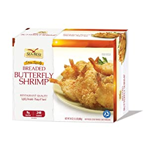 Sea Best 21/25 Butterfly Breaded Shrimp, 24 Ounce