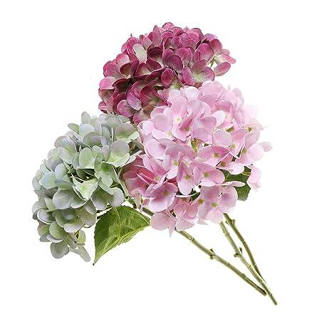 T4u Ramo De Hortensia Flores Artificiales De Seda 3
