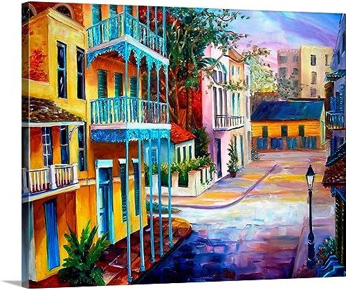 French Quarter Sunrise Canvas Wall Art Print