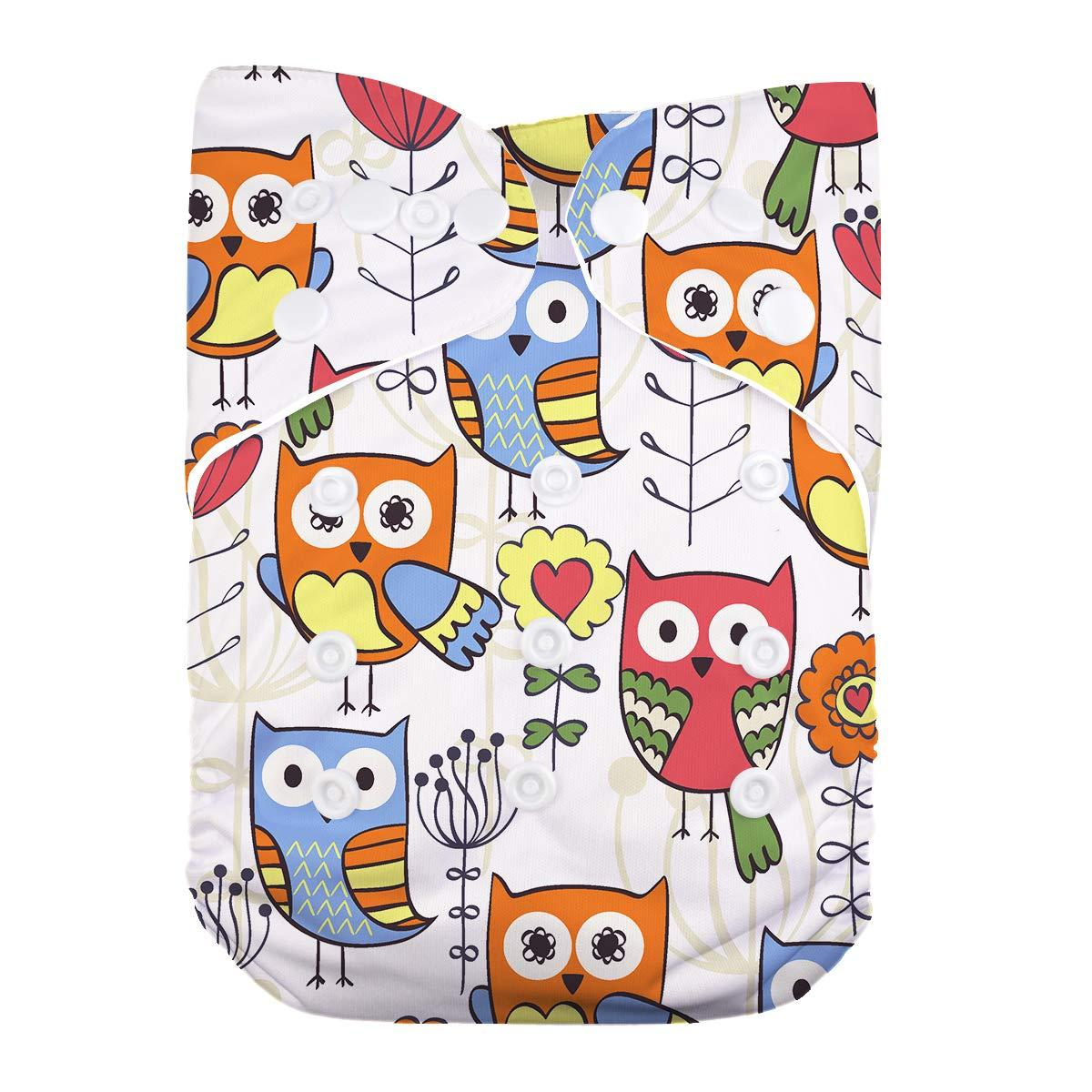 LilBit Baby 6pcs Inserts and 6 pcs Washable Printed Cloth Diapers LBTZH13-UK