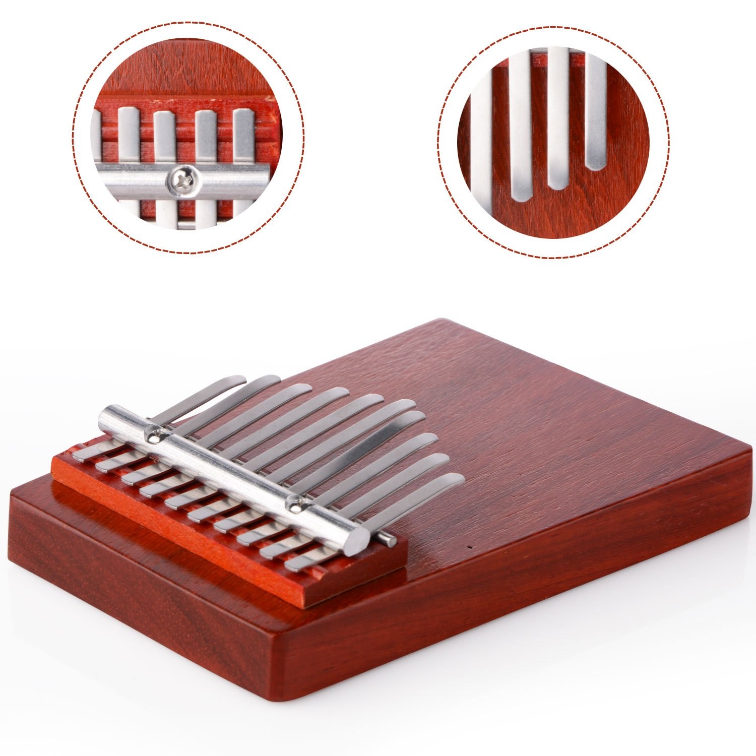 Thumb Piano,10 Key Finger Piano Kalimba Mbira Thumb Piano for Music Lover and Beginner (Annatto color)