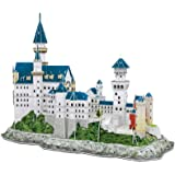 CubicFun 3D Neuschwanstein Castle Puzzles for Adults and Teens, Germany Architecture Building Model Kits Toys Stress Relief G