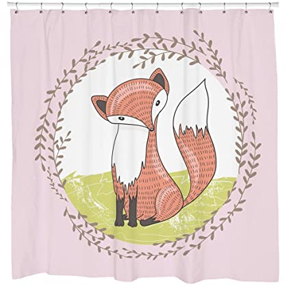 Image Unavailable Not Available For Color Fox Shower Curtain Woodland Animals