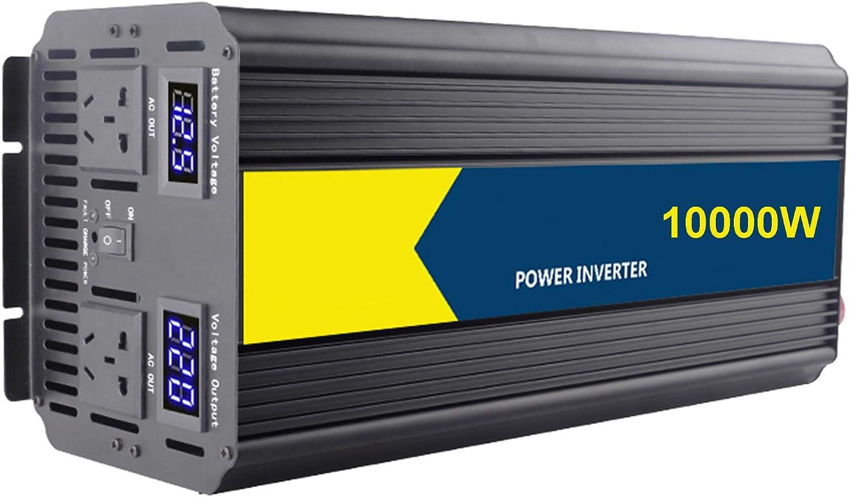 MODRYER Outdoor GeneratorDe Onda Sinusoidal Pura Potencia del Inversor 12V / 24V / 48V A 220V Adaptador Convertidor,10000W_12V220V