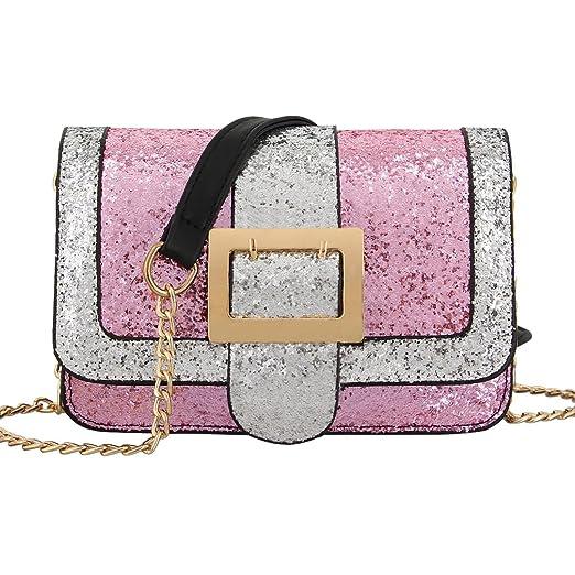 c27f7f4b5018 Amazon.com: Candice Shiny Sequins PU Leather Handbag Shoulder Bag ...