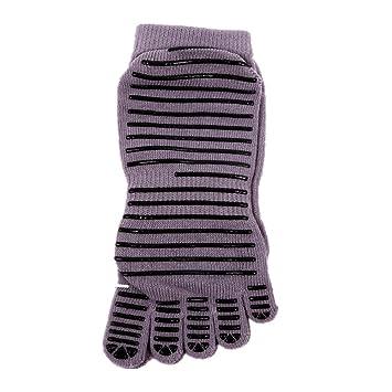 Aszhdfihas Calcetines de Yoga Antideslizante Dance Five Finger Socks Adecuado para Damas (Color : Gris): Amazon.es: Deportes y aire libre
