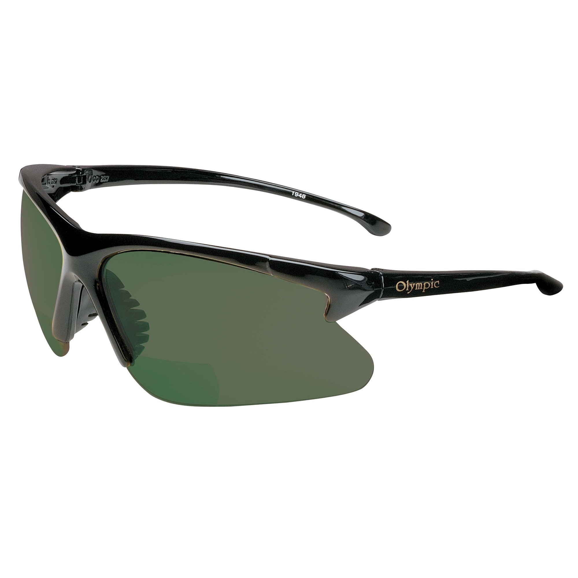 Jackson Safety V60 30-06 Readers Safety Glasses (20553), IRUV Shade 5 Lens Readers with +1.5 Diopters, Black Frame, 6 Pairs / Case