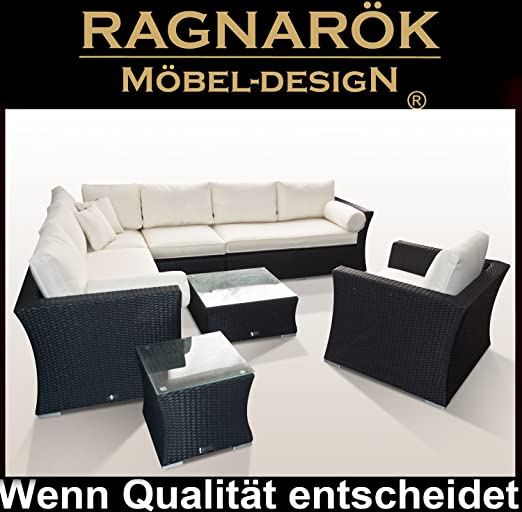 RAGNARÖK Polirratán – Marca alemana – producción propia – 8 años de garantía en UV – muebles de jardín: Amazon.es: Hogar