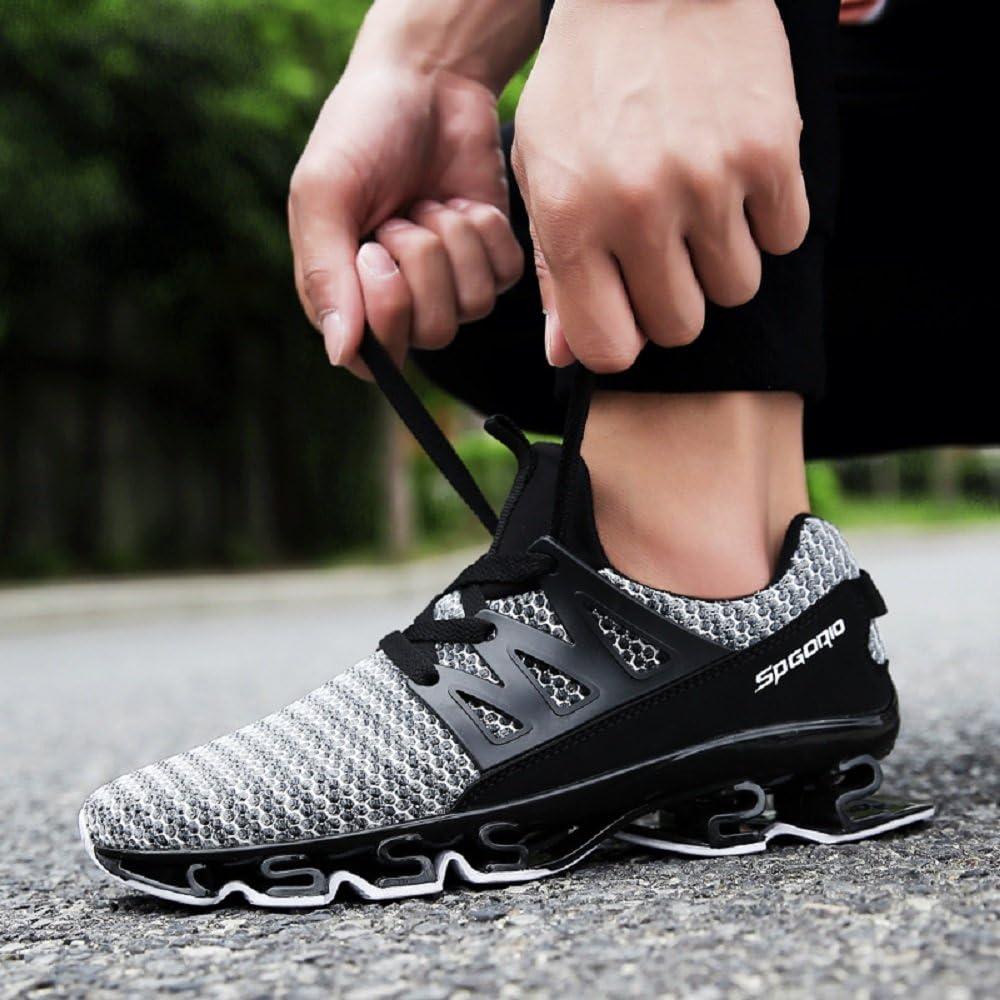 NEOKER Zapatillas Running Hombre Sneakers Calzado Deportivo Verano Aire Libre y Deporte Gimnasia Respirable Gris 44: Amazon.es: Zapatos y complementos