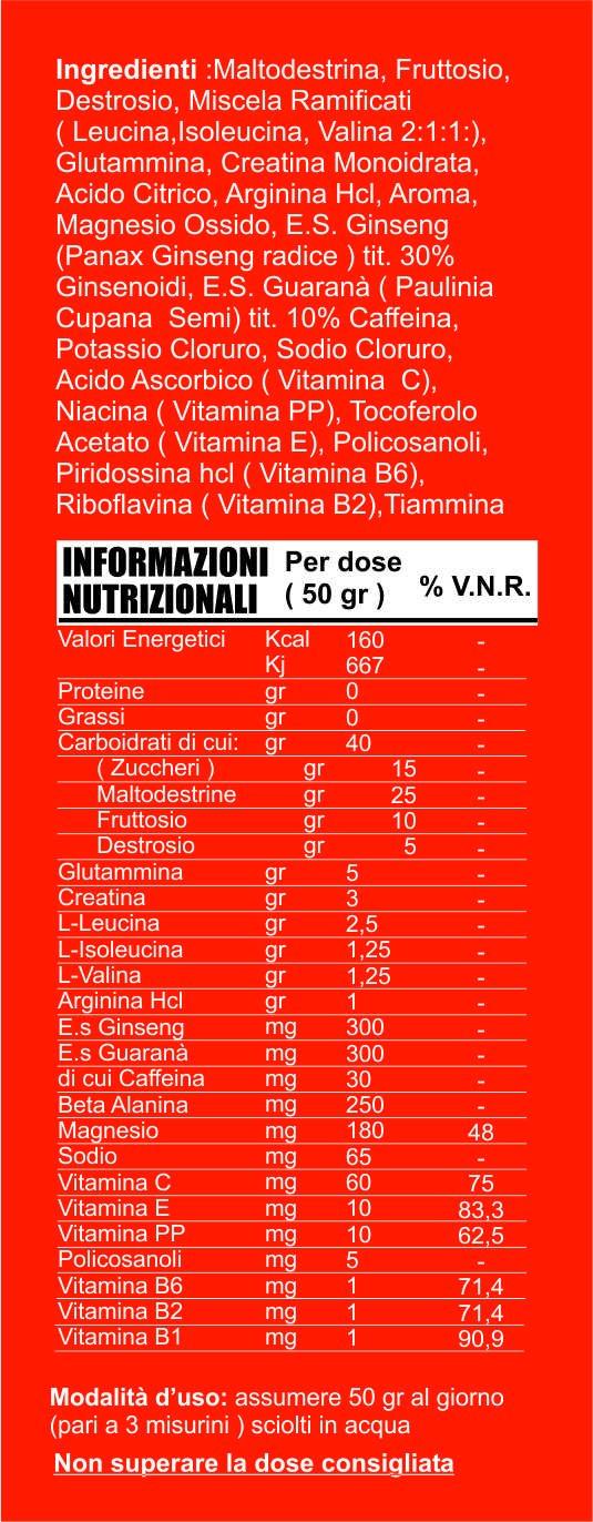 Integradores de poderosa energía de ciclo creatina glutamina Taurina Arginina BCAA Vitaminas gr 1000 Sabor Limón: Amazon.es: Salud y cuidado personal