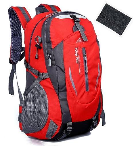 58a63ffa21 Amazon.com   San Tokra Outdoor Travel Waterproof Nylon Backpack Large  Capacity Hiking Backpack   Sports   Outdoors