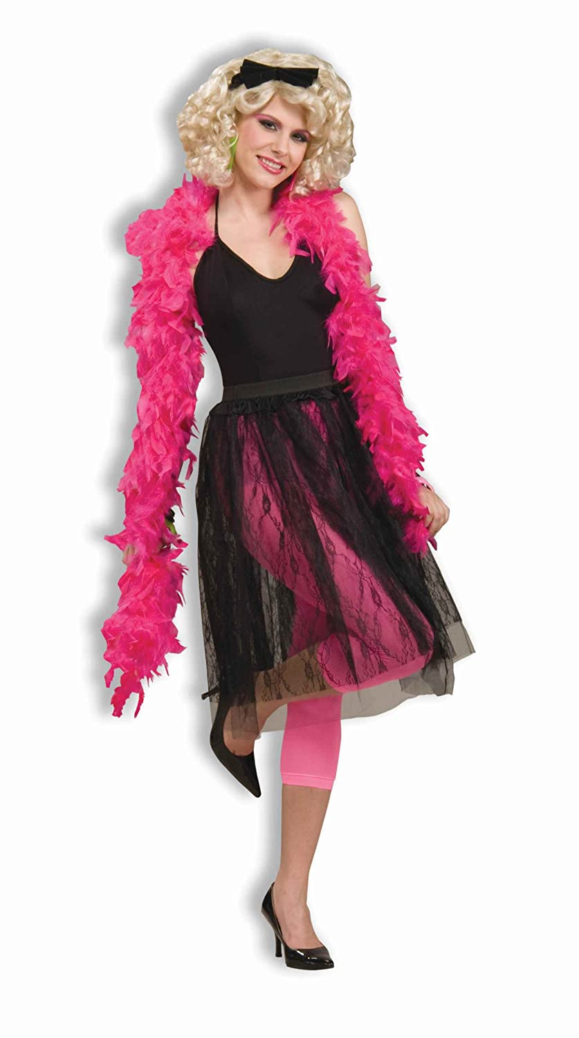 Forum Novelties Woman's 80's Pop Star Skirt Costume Black One Size Costume Forum Novelties Costumes 62548