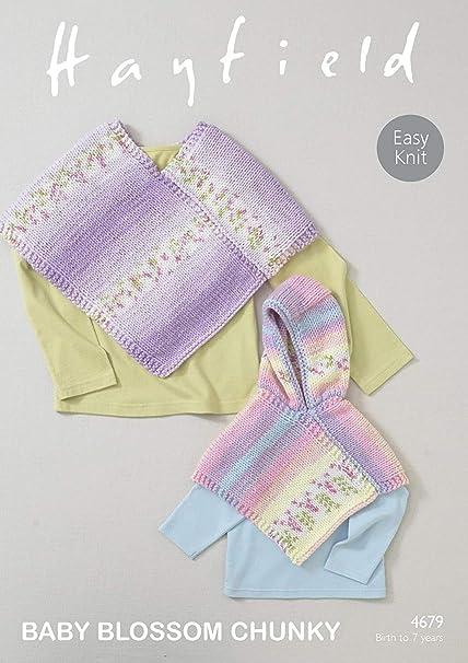 2d9f37ea8 Sirdar Hayfield 4679 Knitting Pattern Baby Girls Easy Knit Ponchos ...