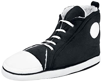 65927644336 Hi Top slippers Men s size UK 7-10 black  Amazon.co.uk  Toys   Games