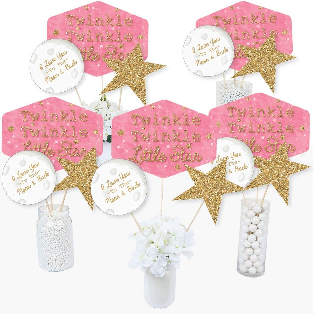 Twinkle Twinkle Little Star Baby Shower Lollipop Stickers 2 sizes to chose from