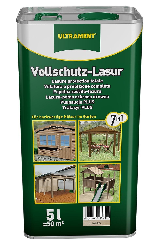 Ultrament 68250050195208 - Barniz de protecció n total 7 en 1 para madera (5 L, transparente)