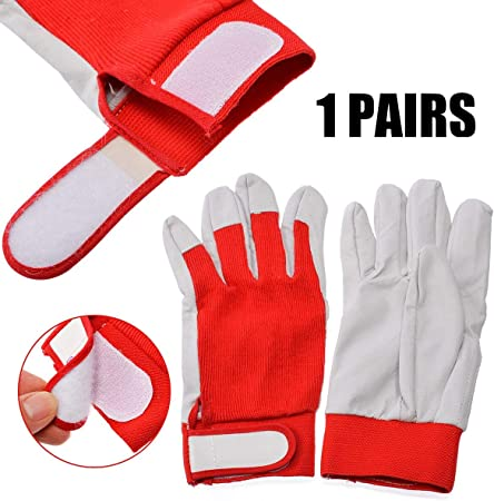 1Pair Leather Welding Gloves Heat Shield Cover Protective Hand Safety Wear Guard