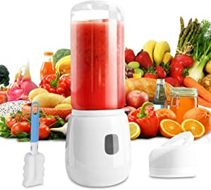 Portable Blender Kowth Personal Size Blender for Shakes and Smoothies Six Blades in Mini Fruit Mixing Machine USB Rechargeable with Detachable Cup Cap Electric Blender for Travel Outdoor 420ML