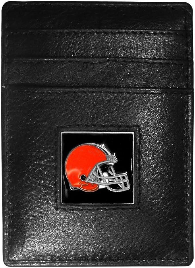NFL Siskiyou Sports Mens Atlanta Falcons Leather Money Clip//Cardholder One Size Black