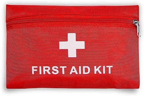 Botiquín de primeros auxilios con 42piezas, bolsa médica portátil, bolsa de supervivencia para emergencias, certificado de CE, ligero y portátil, para coche, hogar, cámping, deportes al aire libre: Amazon.es: Deportes y aire