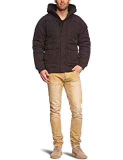 Urban classics fastlane jacket herren winterjacke schwarz