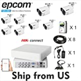 Kit 2MP Epcom Movil-Vision 8 Channel DVR,8 Bullet Cam,2TB HDD