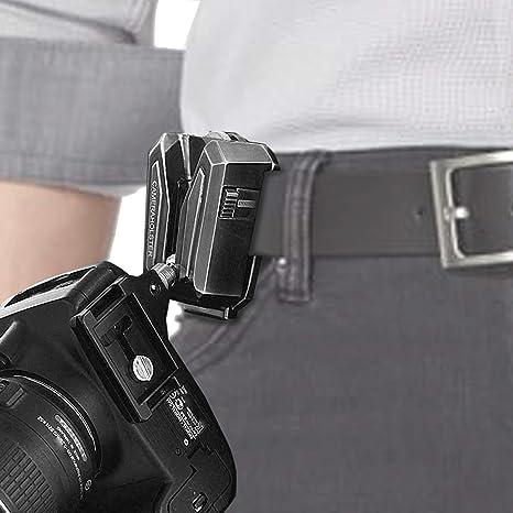 LYNCA Clip Soporte de la cámara para cinturón, Mochila y Todos los ...