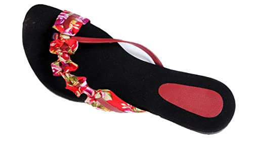bd4a90e6479666 Rnjc Women s Red Fashion Sandal - 6  Buy Online at Low Prices in ...