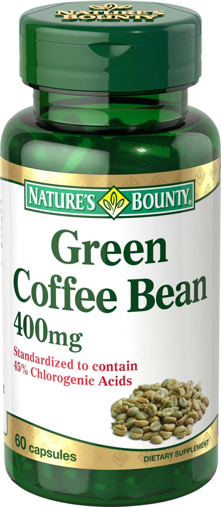 Nature's Bounty Green Coffee Bean 400 mg, 60 Capsules