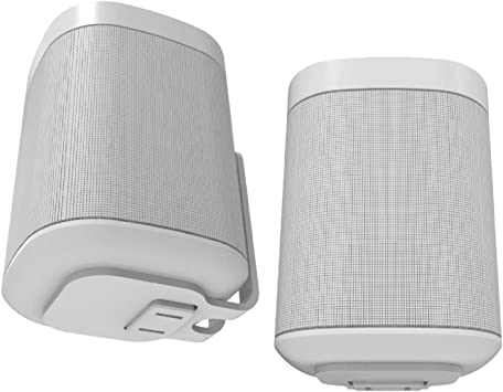 White One SL and Play:1 Sonos Pair of Wall Mounts for Sonos One
