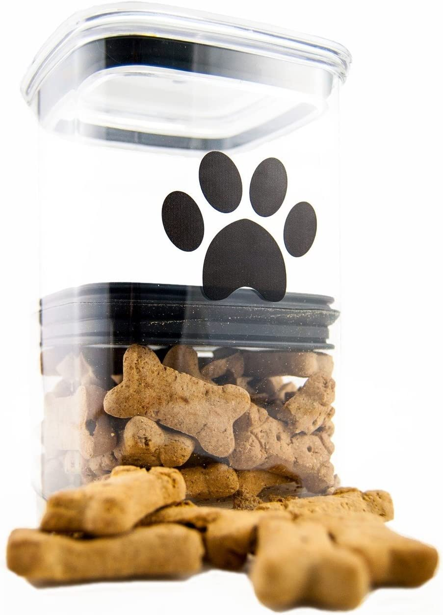 Airscape Pet Food and Treat Storage Container - Patented Airtight Lid Preserves Food Freshness - Clear Plastic - 64 fl. oz