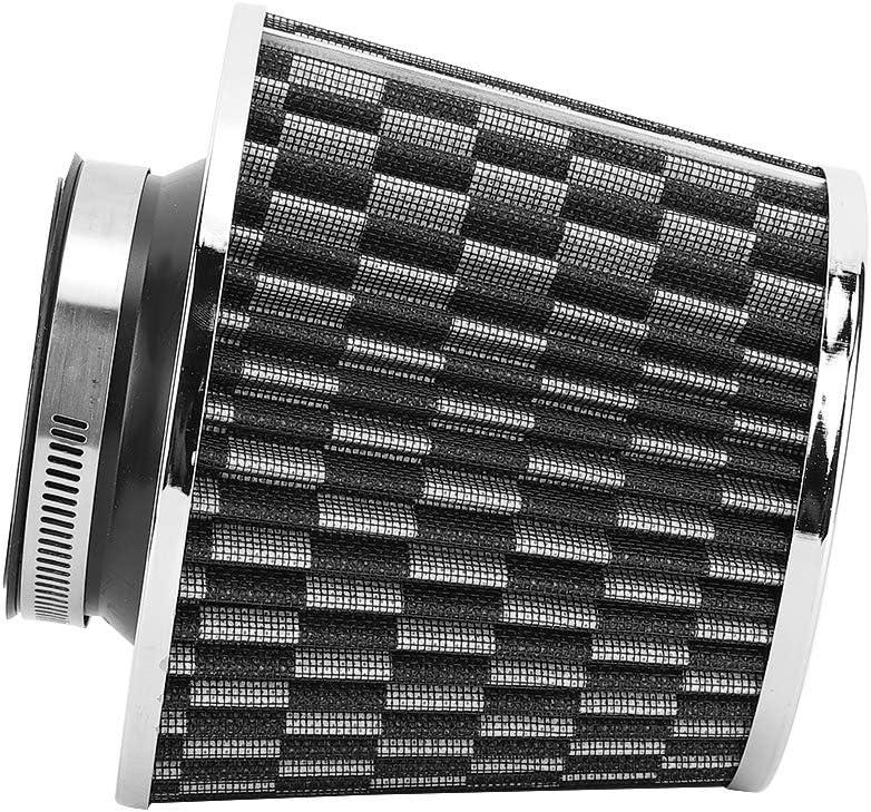 Aramox Air Filter,Car Universal 63mm Iron High Flow Air Multi Diameter Mushroom Head Air Filter Kit Red
