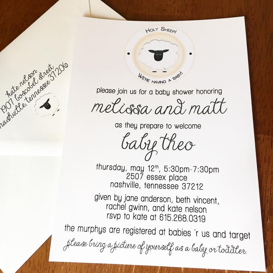 Amazon.com: Holy Sheep Baby Shower Invitations: Handmade