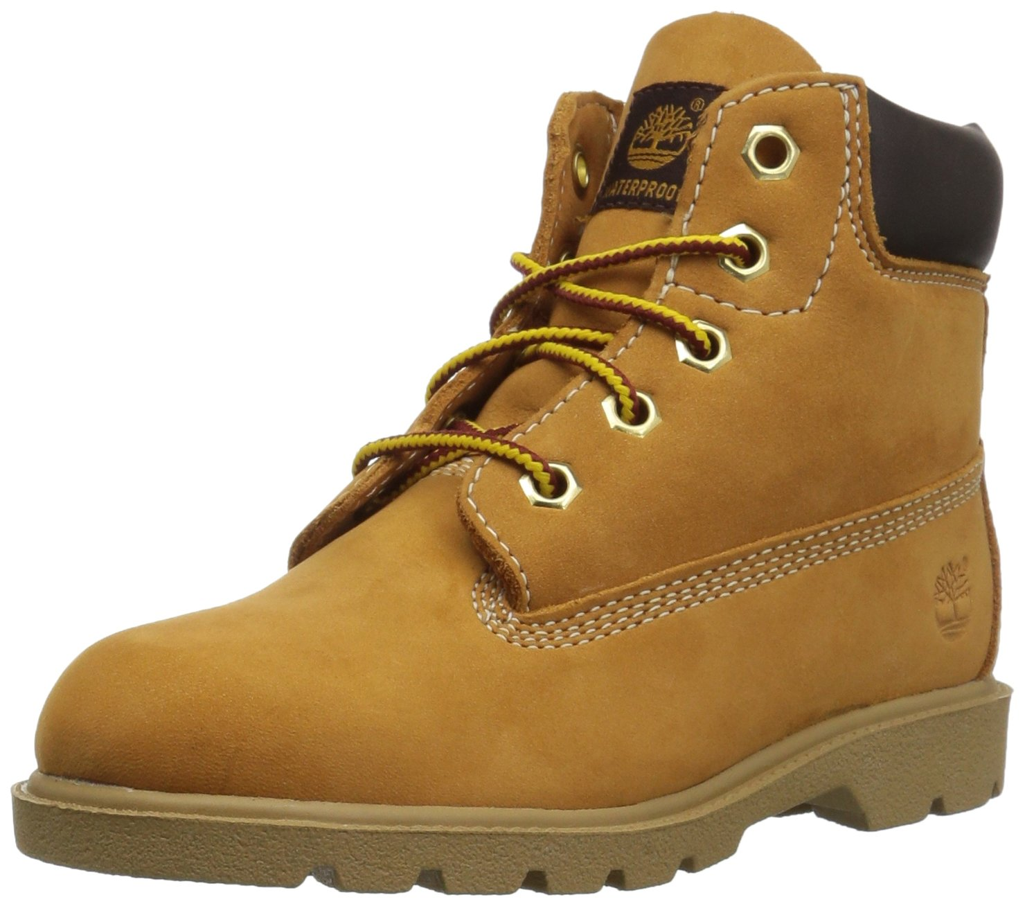 Timberland Unisex 6 in Classic Boot Ankle, Wheat, 3.5 Medium US Big Kid
