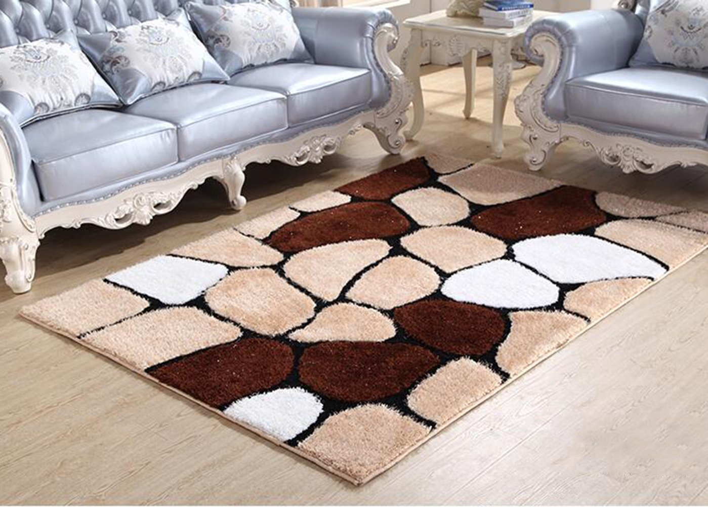 Modern Geometry Home Rugs - MeMoreCool Anti-slipping Bottom Living Room/Bedroom Carpets Thicken Design Various Patterns 63 X 91 Inch