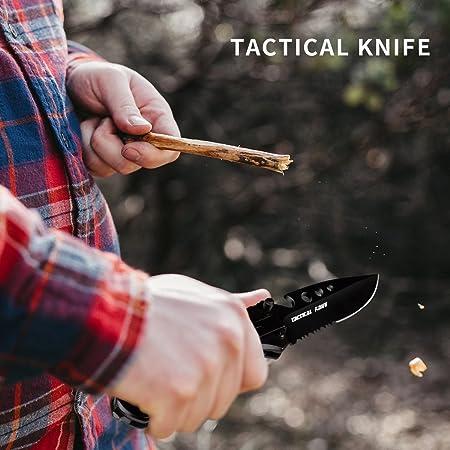 Morpilot Pocket Knife & Tactical Flashlight Set, Super Bright Handheld LED  Flashlight and 5 in 1 Multitool knife for Camping Hiking Backpacking