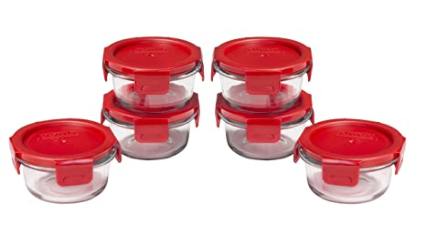 Amazoncom Pyrex 1 Cup Round Glass Food Storage Container Dish Set